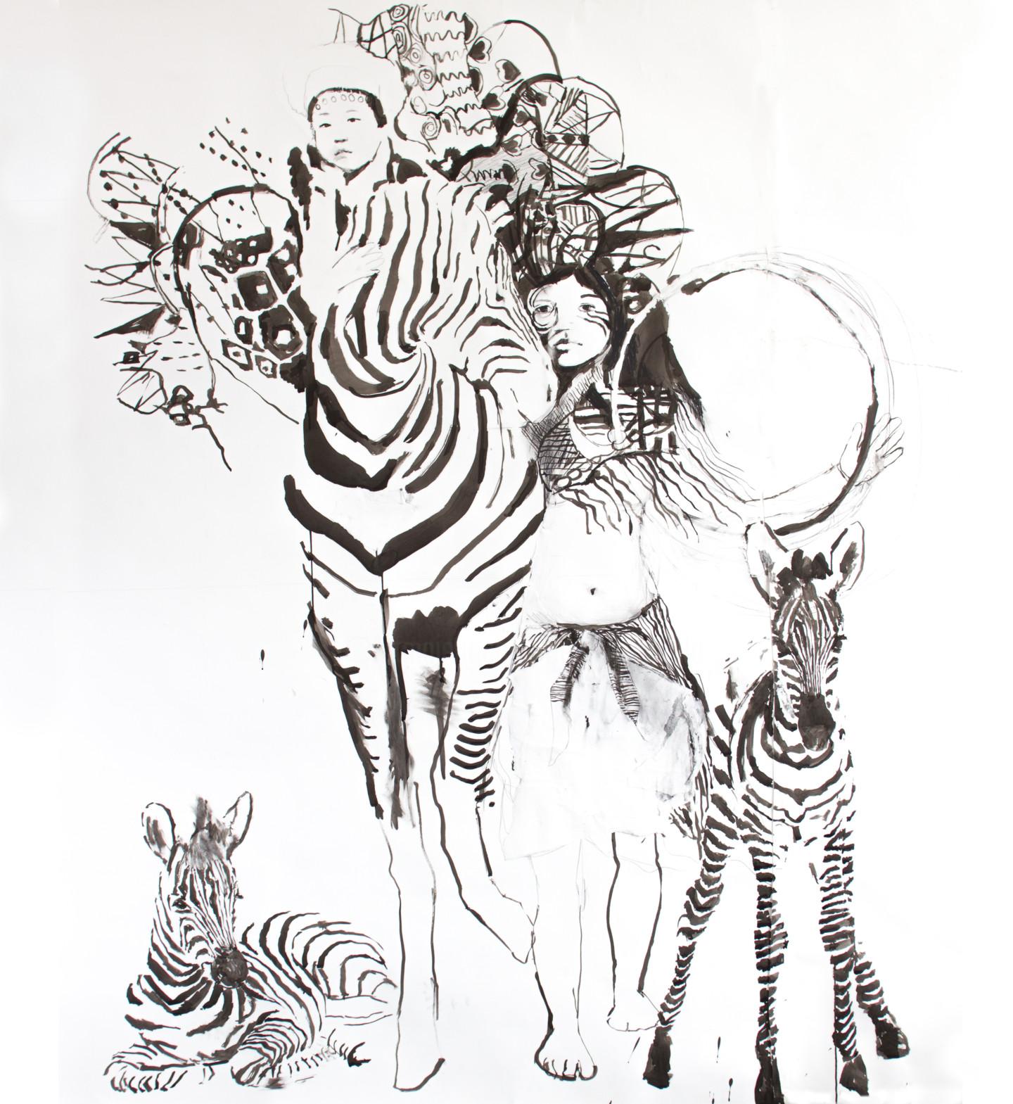 Fleur Elise Noble - Zebra Girl and Child