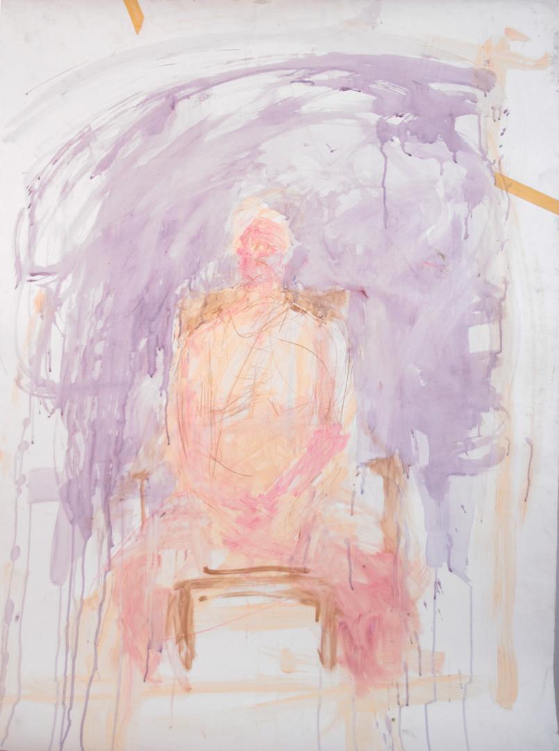 Fleur Elise Noble - Pink and Purple Watercolour
