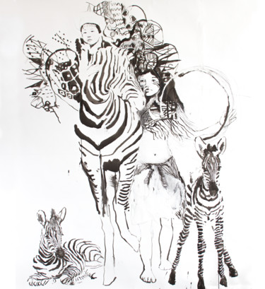 Zebra Girl and Child